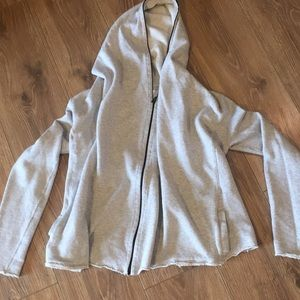 CABI UNSTRUCTURED COTTON HOODIE. Size XS
